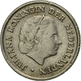Coin, Netherlands, Juliana, 10 Cents, 1950, VF(30-35), Nickel, KM:182