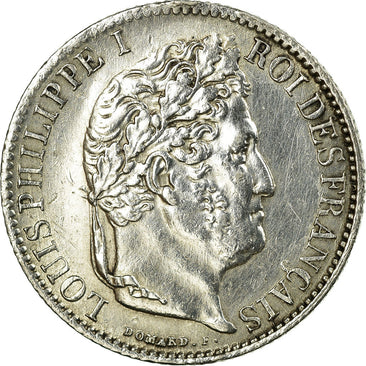 Coin, France, Louis-Philippe, 1/2 Franc, 1845, Rouen, MS(60-62), Silver