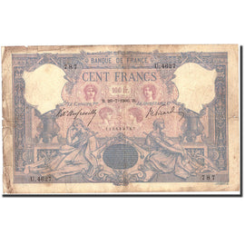 Banknote, France, 100 Francs, 100 F 1888-1909 ''Bleu et Rose'', 1906