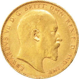 AUSTRALIA, Sovereign, 1907, Perth, KM #15, EF(40-45), Gold, 21, 7.95