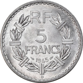 Coin, France, Lavrillier, 5 Francs, 1945, Beaumont - Le Roger, AU(55-58)