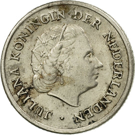 Coin, Netherlands, Juliana, 10 Cents, 1955, Bern, VF(30-35), Nickel, KM:182