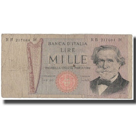 Banknote, Italy, 1000 Lire, KM:101a, VG(8-10)