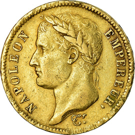 Coin, France, Napoléon I, 40 Francs, 1811, Paris, EF(40-45), Gold, KM:696.1