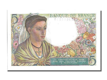 Banknote, France, 5 Francs, 5 F 1943-1947 ''Berger'', 1943, 1943-11-25