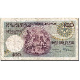 Banknote, Belgian Congo, 100 Francs, 1960, 1960-09-01, KM:33a, VF(30-35)