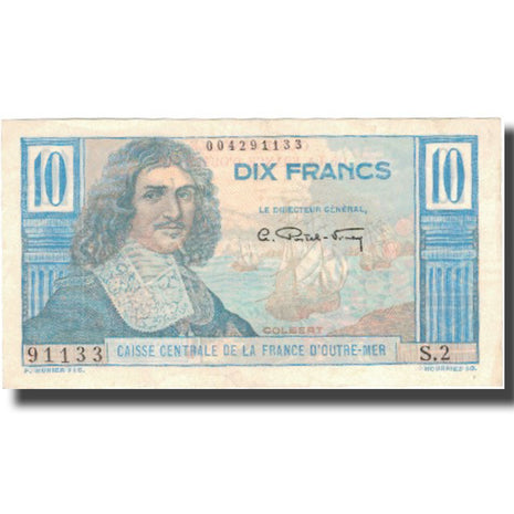 Banknote, French Equatorial Africa, 10 Francs, KM:21, AU(50-53)