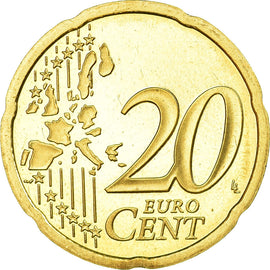 France, 20 Euro Cent, 2000, Proof, MS(65-70), Brass, KM:1286
