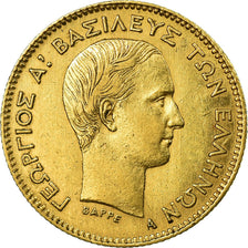 Coin, Greece, George I, 10 Drachmai, 1876, Paris, AU(55-58), Gold, KM:48