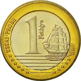 Turkey, Medal, Essai 1 euro, 2004, MS(63), Bi-Metallic