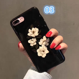 Creative flowers printed plastic Case Cover for Apple iPhone 7 7Plus 6 Plus 6 -05012