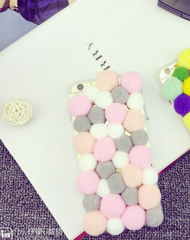 Fashion Painting fluff ball Plastic Case Cover for Apple iPhone 5s 5 6 Plus 6 -05006