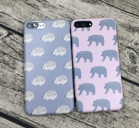 Cute animal printed plastic Case Cover for Apple iPhone 7 7Plus 6 Plus 6 -05011