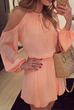 New summer sexy Women Dress Casual Chiffon Dress-0522