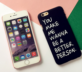 Fashion letters printed plastic Case Cover for Apple iPhone 7 7Plus 6 Plus 6 -05012