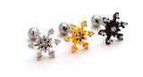 Fashion snowflake zircon Stainless steel earrings antiallergic tragus Earring-0427-Gifts box