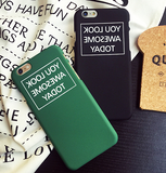 Fashion Painting  LETTER Plastic Case Cover for Apple iPhone 5s 5 6 Plus 6 -05006