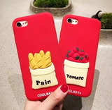 Fashion pain/tomato Silicone plastic Case Cover for Apple iPhone 5s 5 6 Plus 6 -05011