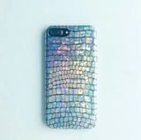 Fashion laser discolor flicker alligator print plastic Case Cover for Apple iPhone 5s 5 6 Plus 6 -05011