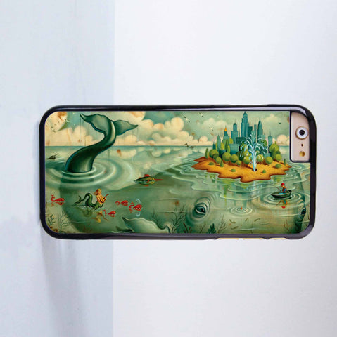 Disney Whale Island Plastic Case Cover for Apple iPhone 6 6 Plus 4 4s 5 5s 5c