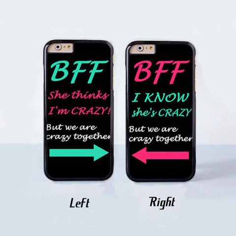 Best Friend Forever Couple Case for Apple iPhone 6 Plus 4 4s 5 5s 5c 6