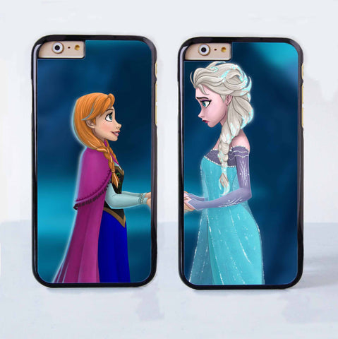Disney Frozen Anna And Elsa Couple Case for Apple iPhone 6 Plus 4 4s 5 5s 5c 6
