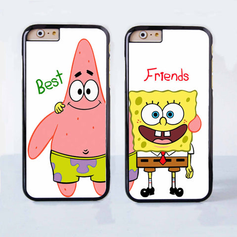 various colors 563e5 e5286 Spongebob and Patrick Couple Case for Apple iPhone 6 Plus 4 4s 5 5s 5c 6