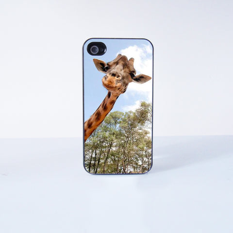 Cute Giraffe Plastic Phone Case For iPhone 4/4S More Case Style Can Be Selected