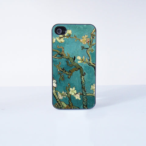 Flower oil Painting Plastic Phone Case For iPhone 4/4S More Case Style Can Be Selected