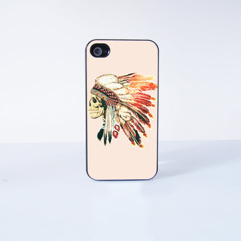 Indian skeleton Plastic Phone Case For iPhone 4/4S More Case Style Can Be Selected