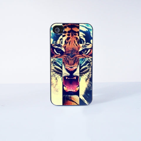 Tiger Plastic Phone Case For iPhone 4/4S More Case Style Can Be Selected
