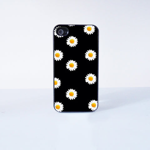 Cute daisy Plastic Phone Case For iPhone 4/4S More Case Style Can Be Selected