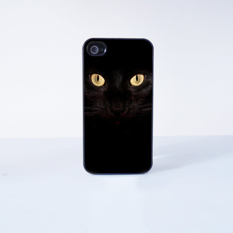 Black Cats Plastic Phone Case For iPhone 4/4S More Case Style Can Be Selected