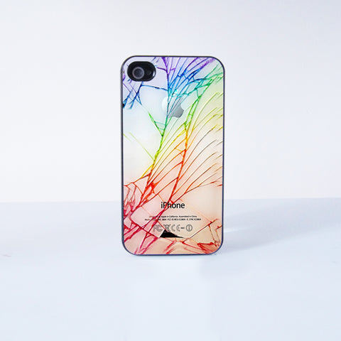 Cracked Out Plastic Phone Case  for Apple iPhone 4 4s 6 6 Plus  5 5s 5c
