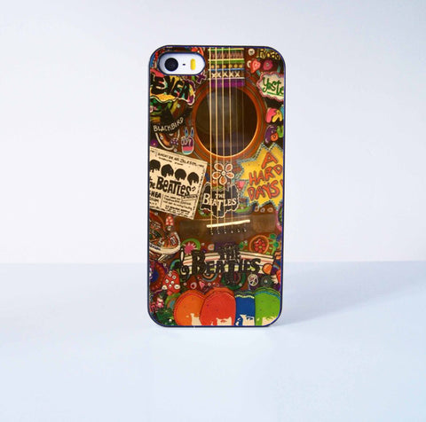 The Beatles Guitar Plastic Case Cover for Apple iPhone 5s 5 6 Plus 6 4 4s  5c