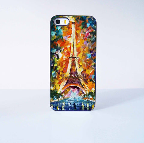Eiffel Tower Painting Plastic Case Cover for Apple iPhone 5s 5 6 Plus 6 4 4s  5c