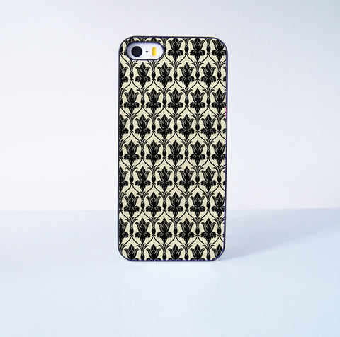 221B Wall Paper Plastic Case Cover for Apple iPhone 5s 5 6 Plus 6 4 4s  5c