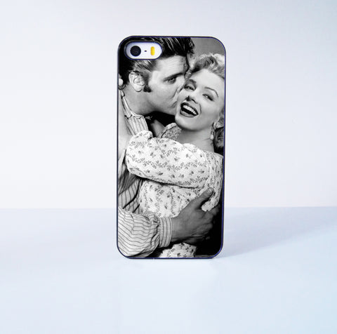 Elvis Presley Kiss Marilyn Monroe Plastic Case Cover for Apple iPhone 5s 5 6 Plus 6 4 4s  5c