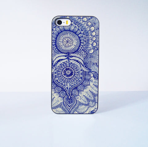 Blue Mandala Collection  Plastic Case Cover for Apple iPhone 5s 5 4 4s 5c 6 6s Plus