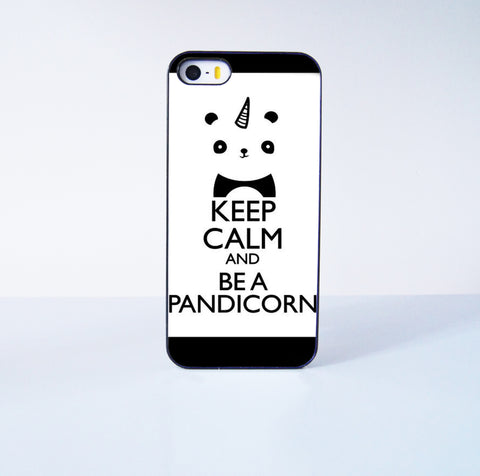 Fashion  Keep Calm and Be a Pandicorn Plastic Case Cover for Apple iPhone 5s 5 6 Plus 6 4 4s  5c