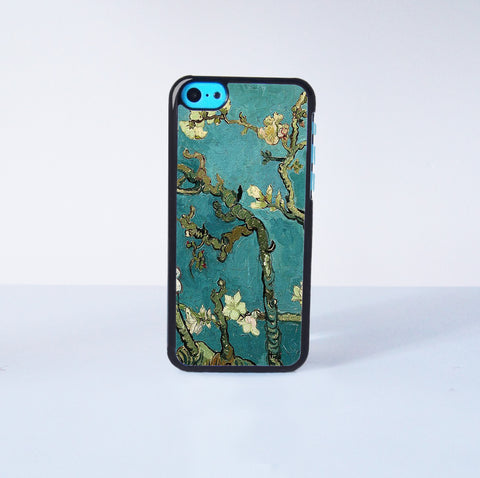 Flower oil Painting Plastic Phone Case For iPhone 5C More Case Style Can Be Selected