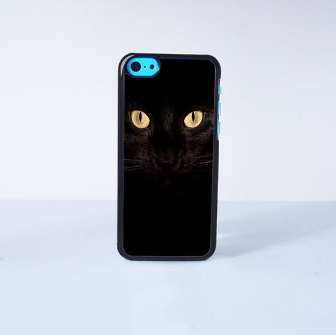 Black Cats Plastic Phone Case For iPhone 5C More Case Style Can Be Selected