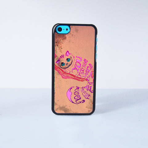 Cheshire Cat Alice In Wonderland  Plastic Case Cover for Apple iPhone 5C 6 Plus 6 5S 5 4 4s