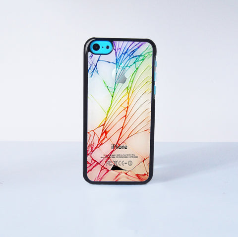 Cracked Out  Plastic Case Cover for Apple iPhone 5C 6 Plus 6 5S 5 4 4s