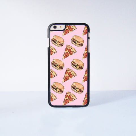 "Pizza and Hamburg Plastic Phone Case For iPhone iPhone 6 Plus (5.5"") More Case Style Can Be Selected"