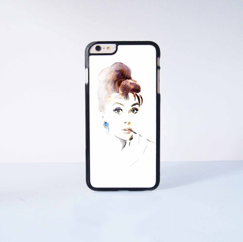 "Audrey Hepburn Plastic Phone Case For iPhone iPhone 6 Plus (5.5"") More Case Style Can Be Selected"