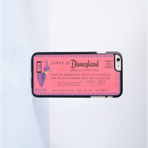 Disneyland Plastic Case Cover for Apple iPhone 6 Plus 4 4s 5 5s 5c 6