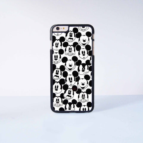 Mickey Expression Plastic Case Cover for Apple iPhone 6 Plus 4 4s 5 5s 5c 6