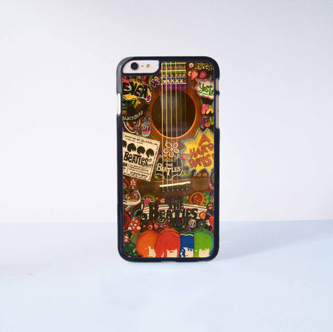 The Beatles Guitar Plastic Case Cover for Apple iPhone 6 Plus 4 4s 5 5s 5c 6