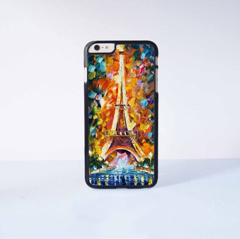 Eiffel Tower Painting  Plastic Case Cover for Apple iPhone 6 Plus 4 4s 5 5s 5c 6